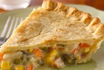 Yum! easy chicken pot pie! I also added some cooked chicken to this. / by Kristy Dorn