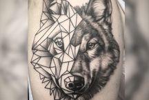 Волк тату