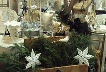 Naughty & Nice Noel / Real Evergreens yet Faux Snow