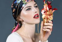 Sweet Tooth Scarf Collection by thumbalina.co.uk / Photographer: Adrenus Craton Model: Nadia Khivrych - Novelmodels Elite Hair & Makeup: Melodie Briere  Assist Photog: Malachi Breeze Location: London HOUSE Studio  @adrenuscraton @nadiakhivrych + @novelmodels @makeupbymelo @malachibreeze @ldn_housestudio