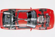 Car cutaways / A look under the skin of cars, engines or other automotive components.