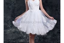 Short Wedding Dresses /  Chiffon V-Neck Knee Length Column Short Wedding Dress / by eweddingdress
