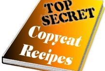 Copy Cat Recipes / We all want to know the secret recipes from the popular chains. Well they are getting easier and easier to come by.