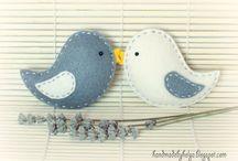 felt birds