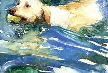 Pes maľba