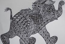 zentagle, animals, Celtic imagery