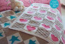 Tilbehør/gaver baby/barn, strikkeoppskrifter