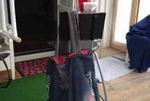 JeansVäskor / Mina sydda väskor