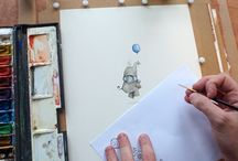 Chris Saunders Watercolours / http://thecurioustreehouse.blogspot.co.uk