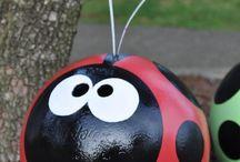 bowling balls (lady bugs)