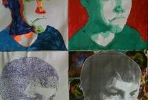 art projects - self portraits