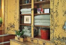 YELLOW-vintage distressed chippy furnitures