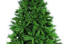 6Ft Christmas Tree Green Festive Pine Tree Folding Metal Stand Indoor Decoration