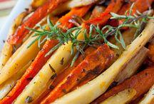 Carrot parsnips roast
