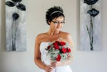 Lindy & Daniel Wedding / Lovely wedding we did at Kleine Zalze Estate in February. Baby's breathe was the centre of attention for this wedding with a touch of red roses and hessian.
