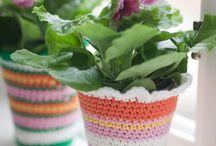 crochet flower pots and vases
