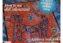 Batika,malování na textil