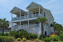 Palm Manor - 917 Ocean Blvd., Isle of Palms, SC / Big, beautiful and recently renovated, this 8 bedroom, 8 1/2 bath beach house is ideal for family reunions and large groups. Spacious at 4,500 square feet, there's also 1,200 additional sq. ft. of outdoor decks with ocean views. Featuring an inverted floor plan to maximize the ocean views, you'll also love the covered porches and balconies overlooking your own private pool. Palm Manor even has an elevator and Brazilian cherry floors.