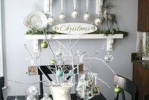 My white Chrismas Decor Ideas / white Christmas décor Ideas / by La Rella Brooks