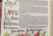 Galatians--Bible Journaling by Book / Bible Journaling examples from the book of Galatians