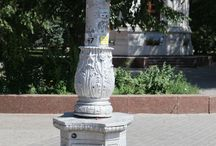 Lampposts with plinths / Design of russian and soviet lampposts.