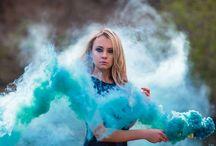 •colorful fume