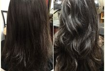 Before & After / Actual photos of hair extensions before & after added to hair.