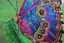 embroidered bugs and insects