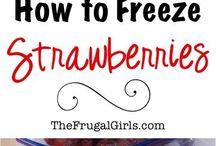 freeze fruit and veggies