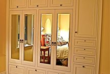 Fitted Wardrobes  / Todays reach in closets are almost always difficult to maneuver . . .Replacing them with a built in wardrobe will increase your space, define the space's use, AND add a touch of architectural mastery to your home / by HouseOrganized