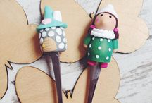 Ekaterina / Polymer clay doll and home