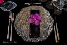 Manteles de terciopelo negro para tu fiesta // Black velvet table linen for your party
