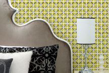 First Impression - Wallpaper by Sarah & Ruby / Our First Impression Wallpaper Collection is entirely handmade. Each pattern is hand printed by artisans with a hand-carved wooden block. Bold, organic, simultaneously modern yet traditional, these wallcoverings are suitable for a variety of interior design styles. When installed, the finish is absolutely stunning — it almost looks like the wall itself was carefully hand-painted.
