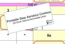 Step Aerobics Combos / Printable step aerobics combos/routines