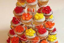 Red, orange and yellow wedding theme