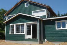 Casa canadiense verde / Construcción de casa canadiense en Cercedilla
