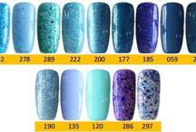 Q1T Professional UV nail polish- Blue shades