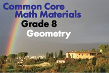 CCG8: Geometry / Common Core Grade 8: Geometry. Great teaching resources to help students:  1) Understand congruence and similarity using physical models, transparencies, or geometry software.  2) Understand and apply the Pythagorean Theorem.  3) Solve real-world and mathematical problems involving volume of cylinders, cones, and spheres.