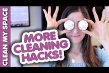 Cleaning Hacks / A collection of tested and functional tips and ideas on how to cut cleaning time with simple hacks and find unexpected uses for household items.