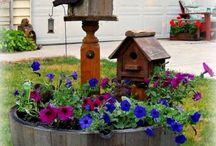 adornos de madera jardin