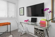 Home Office Design / Beautiful and Modern Home Offices designed by Dresner Design in Chicago, IL