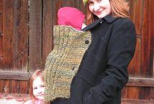 Porta bebé tejido