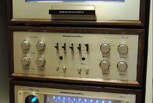 Retro hifi audio stereo