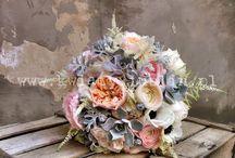 Wiązanki ślubne z anemonami