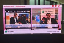 Social Wall for events / #SocialWalls displaying #socialmedia feeds on big screens for events.