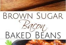 Baked beans breakfast