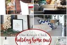 Christmas Home Tours / Collection of gorgeous holiday home tours and decorating ideas