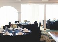 Cove Room / Our smaller banquet room, located on the lower level of our property with full facing ocean views! Great for parties of up to 100.
