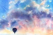 Watercolor art / 수채화기법의 앝ㅡ
