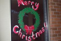 Library Displays Christmas